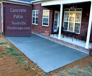 Franklin Concrete Patio,  Broom Finish Concrete Patio