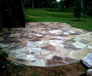 Franklin patios this is an oklahoma flagstone patio