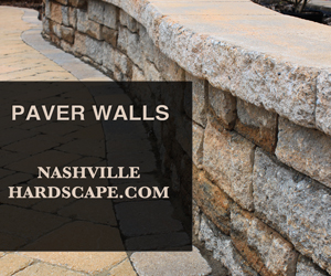 Nashville Paver Wall, Nashville Retaining Walls, Nashville Wall, This is a photo of a Belgard block type wall.