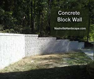Landscape Block Wall Tn, Nashville concrete block