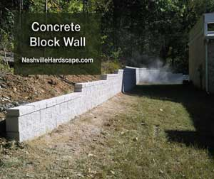 nashville concrete block retaining walls and landscape retaining walls