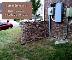 Nashville Stone Wall,  with Veneer Natural Stone