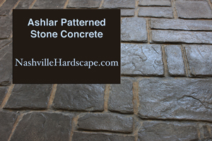 Nashville Ashlar Patterned Stone Concrete Look Gray Brown Image