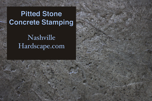 Nashivlle Pitted Stone Stamped Concrete with Sealer