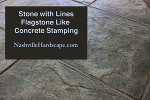 Nashville Stamped Dyed and Sealed Concrete with Lines like Flagstone