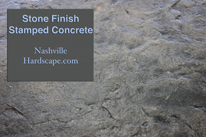 Nashville Stone Finished Stamped Concrete with a skin like texture decorative concrete